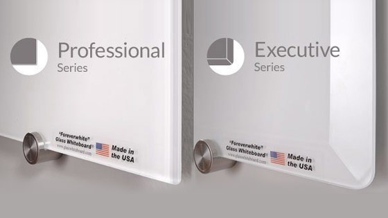 Professional and Executive Glass Whiteboard Compared